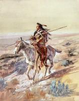 Charles Marion Russell : Indian with Spear