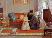 William Merritt Chase : I am Going to See Grandma aka Mrs Chase and Child