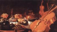 Pieter Claesz : Still Life with Musical Instruments