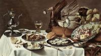 Pieter Claesz : Still Life with Turkey Pie