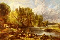 John Constable : The Young Waltonians, Stratford Mill