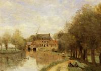 Jean-Baptiste-Camille Corot : Arleux-du-Nord, the Drocourt Mill, on the Sensee