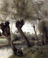 Jean-Baptiste-Camille Corot : Saint-Nicholas-les-Arras, Willows on the Banks of the Scarpe