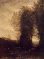 Jean-Baptiste-Camille Corot : A Cow and its Keeper