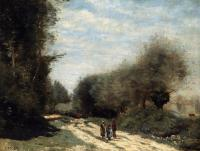 Jean-Baptiste-Camille Corot : Road in the Country, Crecy en Brie