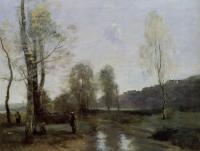 Jean-Baptiste-Camille Corot : Canal in Picardi