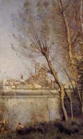 Jean-Baptiste-Camille Corot : Nantes, the Cathedral and the City Seen throuth the Trees
