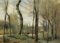 Jean-Baptiste-Camille Corot : First Leaves, near Nantes