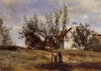 Jean-Baptiste-Camille Corot : An Orchard at Harvest Time