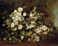 Gustave Courbet : Flowering Apple Tree Branch