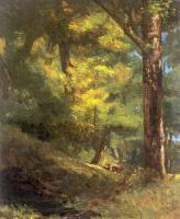 Gustave Courbet : Deux Chevre Uils Dans la Foret (Two Goats in the Forest)