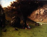 Gustave Courbet : La Petite Bergere(The Young Shepherdess)