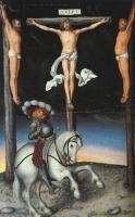 Lucas The Elder Cranach : The Crucifixion with the Converted Centurion