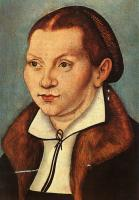 Lucas The Elder Cranach : Diptych with the Portraits of Martin Luther and his Wife