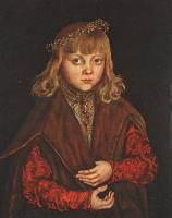 Lucas The Elder Cranach : Portrait of a Saxon Prince