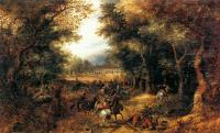 David Vinckboons : Forest Scene With Robbery