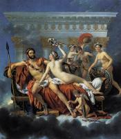 Jacques-Louis David : Mars Disarmed by Venus and the Three Graces