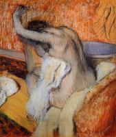 Edgar Degas : After the Bath, Woman Drying Herself