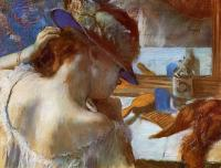 Edgar Degas : At the Mirror