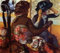 Edgar Degas : At the Milliner's II