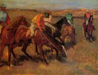 Edgar Degas : Before the Race