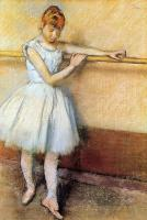 Edgar Degas : Dancer at the Barre