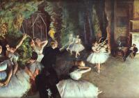 Edgar Degas : Rehearsal on the Stage