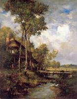 Narcisse-Virgile Diaz De La Pena : The Old Windmill near Barbizon