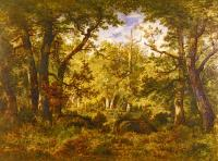 Narcisse-Virgile Diaz De La Pena : A Sunlit Clearing In The Forest At Fontainbleau
