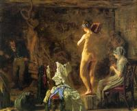Thomas Eakins : William Rush Carving his Allegorical Figure of the Schuylkill River