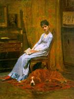 Thomas Eakins : The Artist's Wife and his Setter Dog (Susan Macdowell Eakins)