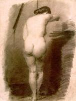 Thomas Eakins : Study of a Standing Nude Woman