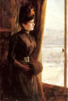 Albert Edelfelt : A Portrait of Madame Vallery-Radot