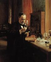 Albert Edelfelt : Portrait of Louis Pasteur