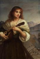 Edward Charles Halle : Frencesca and Her Lute