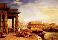 Edward Pritchett : Looking To St Marks Square From The Dogana