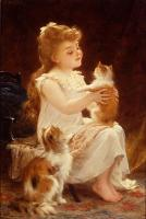 Emile Munier : playing with the kitten