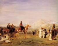 Eugene Fromentin : Arab Encampment In The Atlas Mountains