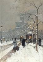 Eugene Galien-Laloue : FIGURES in the snow Paris