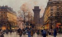 Eugene Galien-Laloue : Les Grands Boulevards A Paris