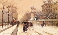 Eugene Galien-Laloue : Paris In Winter