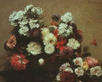Henri Fantin-Latour : Still Life with Flowers