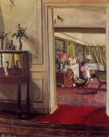 Felix Vallotton : Interior with Woman in Pink