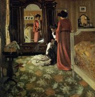 Felix Vallotton : Interior, Bedroom with Two Figures