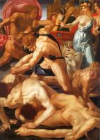 Rosso Fiorentino : Moses Defending the Daughters of Jethro