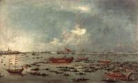 Francesco Guardi : Outward Voyage of the Bucintoro to San Nicolo del Lido