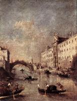 Francesco Guardi : Rio dei Mendicanti