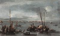 Francesco Guardi : The Lagoon Looking toward Murano from the Fondamenta Nuove