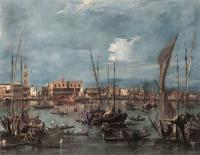Francesco Guardi : The Molo and the Riva degli Schiavoni from the Bacino di San Marco