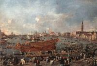 Francesco Guardi : The Doge on the Bucintoro near the Riva di Sant Elena